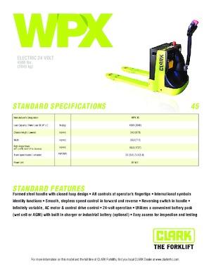 Штабелер для піддонів  Clark WPX 45